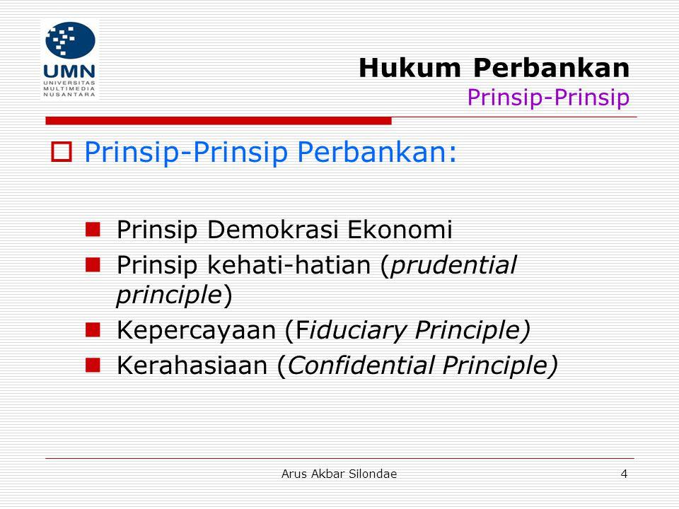 Hukum Perbankan Prinsip-Prinsip
