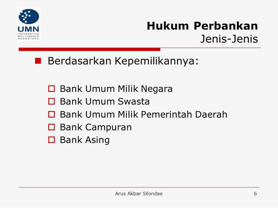 Hukum Perbankan Jenis-Jenis