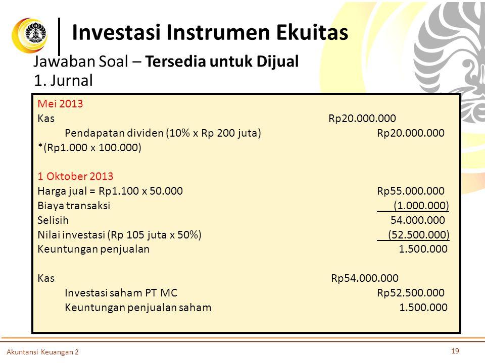 Investasi Instrumen Ekuitas