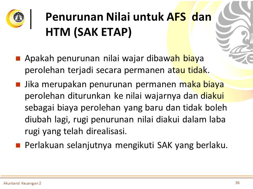 Penurunan Nilai untuk AFS dan HTM (SAK ETAP)