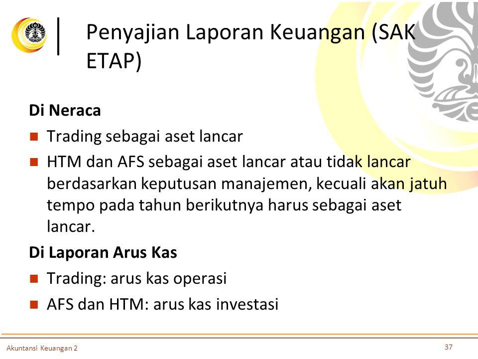 Penyajian Laporan Keuangan (SAK ETAP)