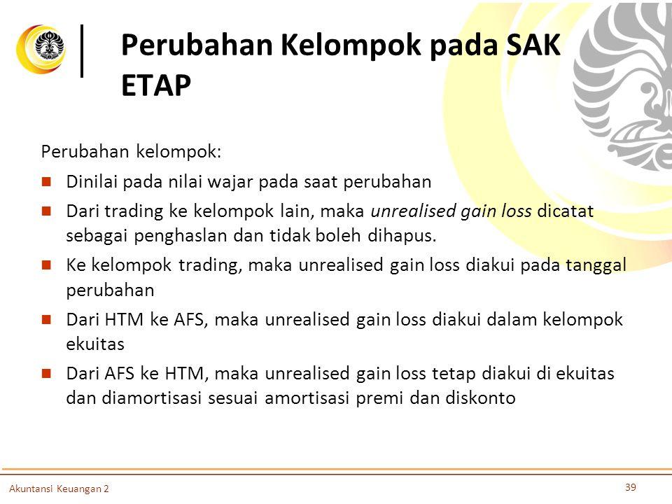 Perubahan Kelompok pada SAK ETAP