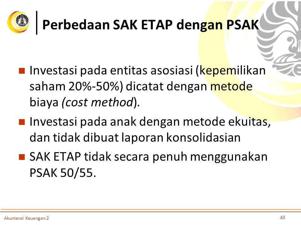 Perbedaan SAK ETAP dengan PSAK