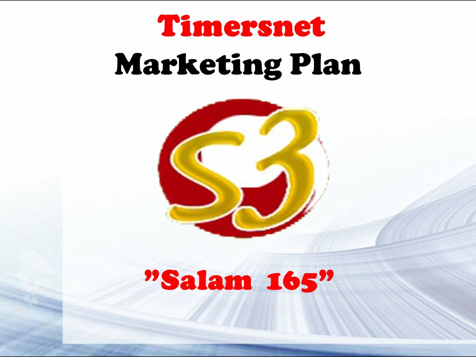 Timersnet Marketing Plan Salam 165