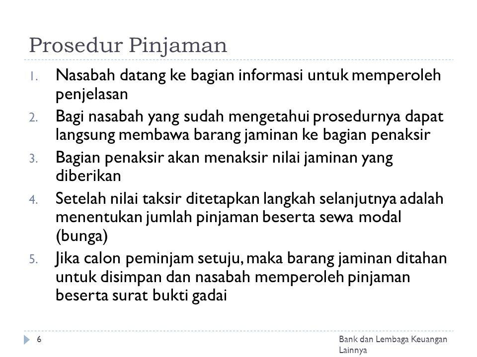 Prosedur Pinjaman Nasabah datang ke bagian informasi untuk memperoleh penjelasan.
