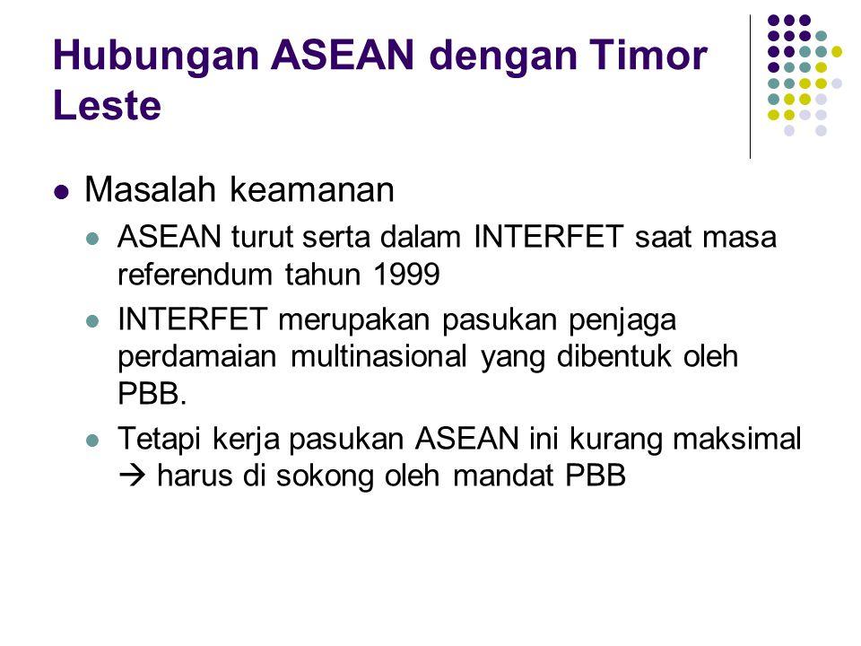 Hubungan ASEAN dengan Timor Leste