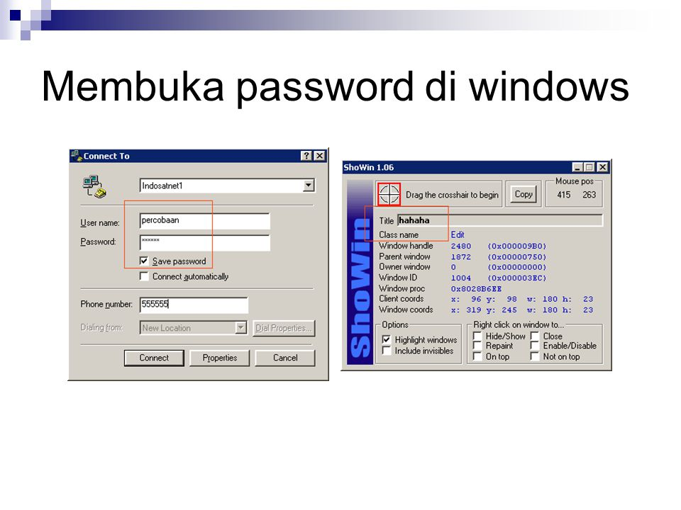Membuka password di windows