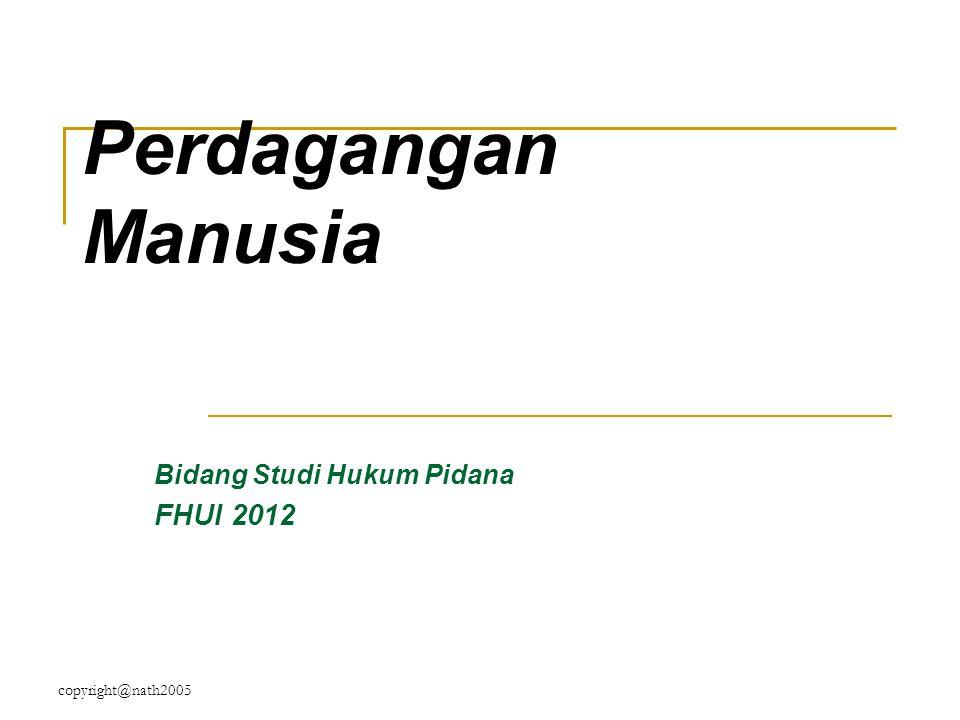 Bidang Studi Hukum Pidana FHUI 2012