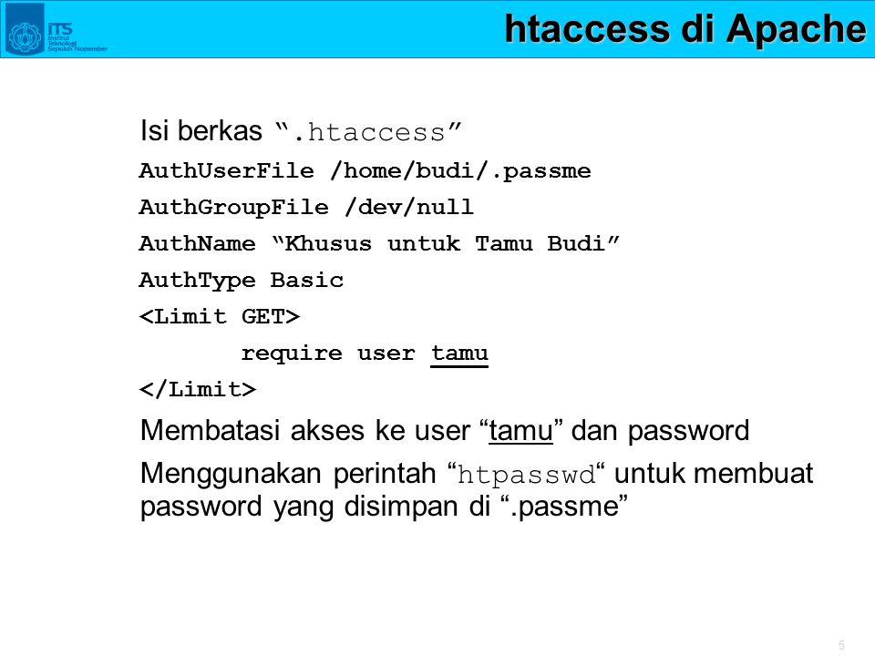 htaccess di Apache Isi berkas .htaccess