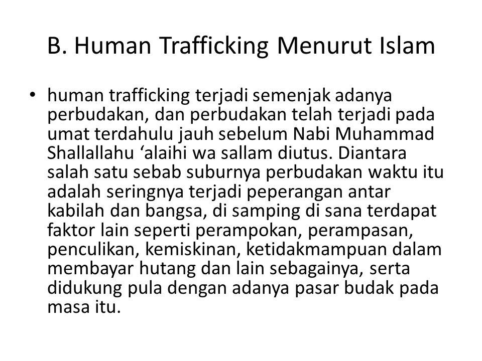 B. Human Trafficking Menurut Islam