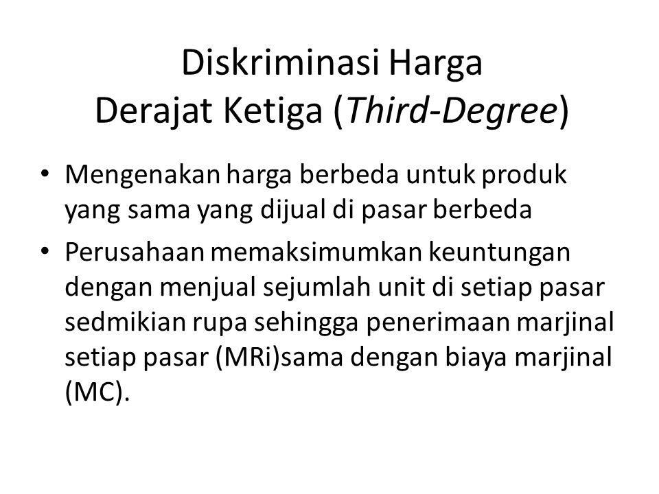 Diskriminasi Harga Derajat Ketiga (Third-Degree)