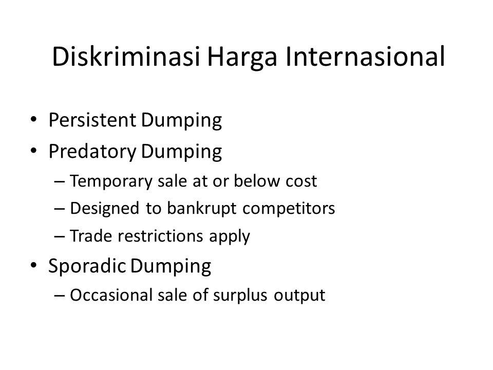 Diskriminasi Harga Internasional