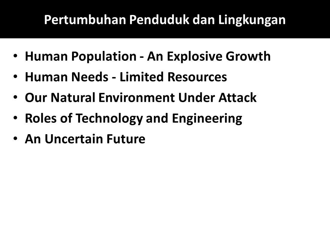 Pertumbuhan Penduduk dan Lingkungan