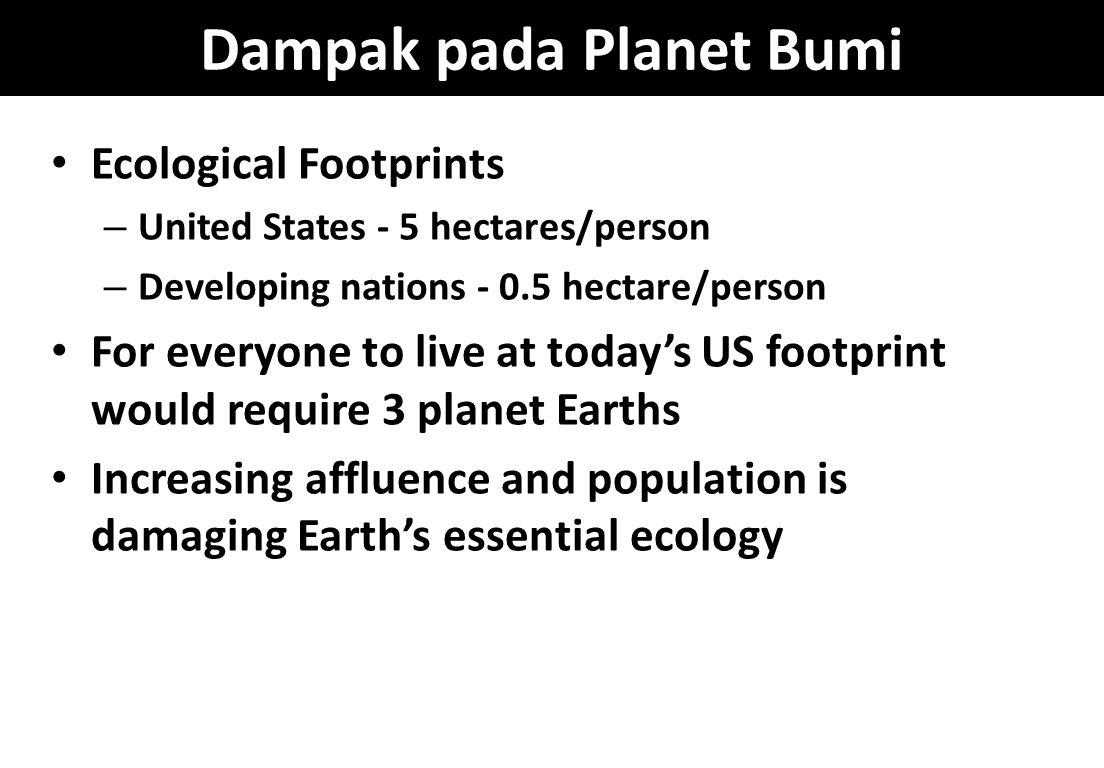 Dampak pada Planet Bumi