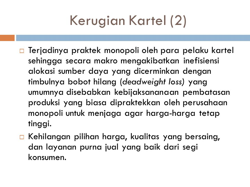 Kerugian Kartel (2)