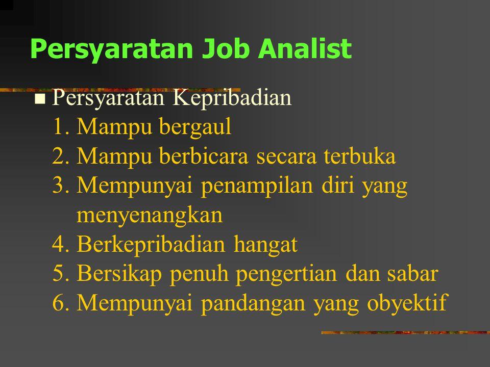 Persyaratan Job Analist