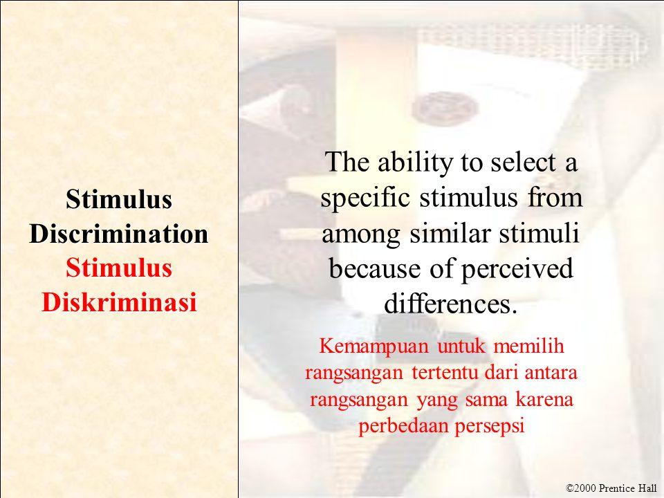 Stimulus Discrimination Stimulus Diskriminasi