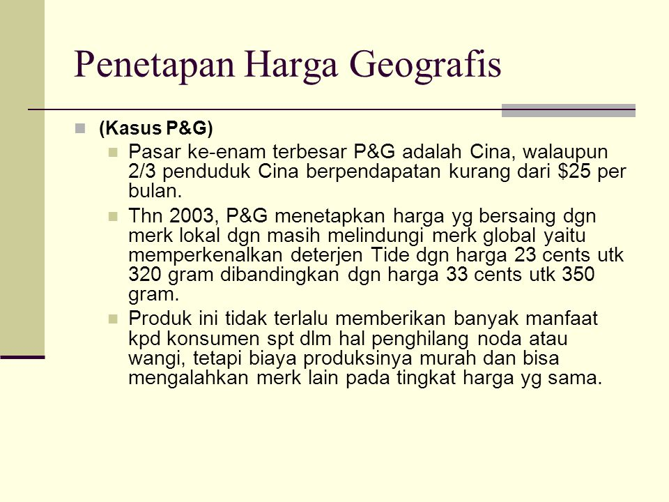 Penetapan Harga Geografis