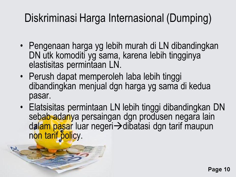 Diskriminasi Harga Internasional (Dumping)