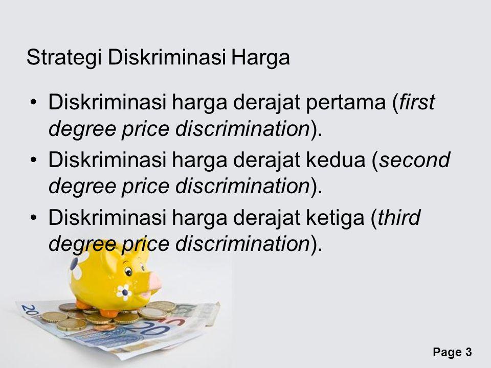 Strategi Diskriminasi Harga
