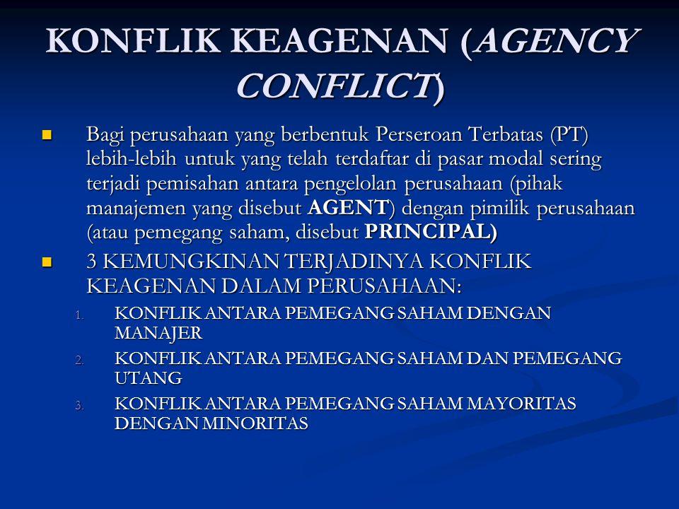 KONFLIK KEAGENAN (AGENCY CONFLICT)
