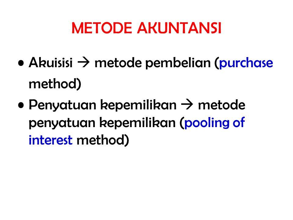 METODE AKUNTANSI Akuisisi  metode pembelian (purchase method)
