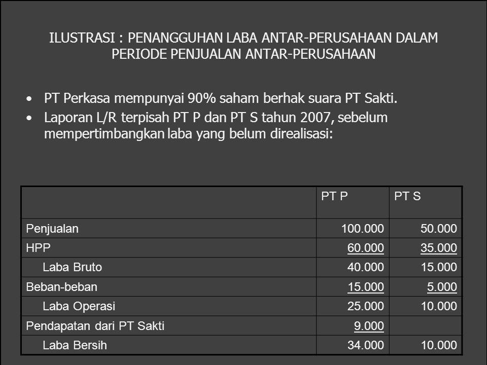 PT Perkasa mempunyai 90% saham berhak suara PT Sakti.