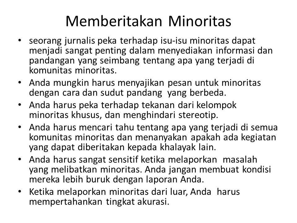 Memberitakan Minoritas