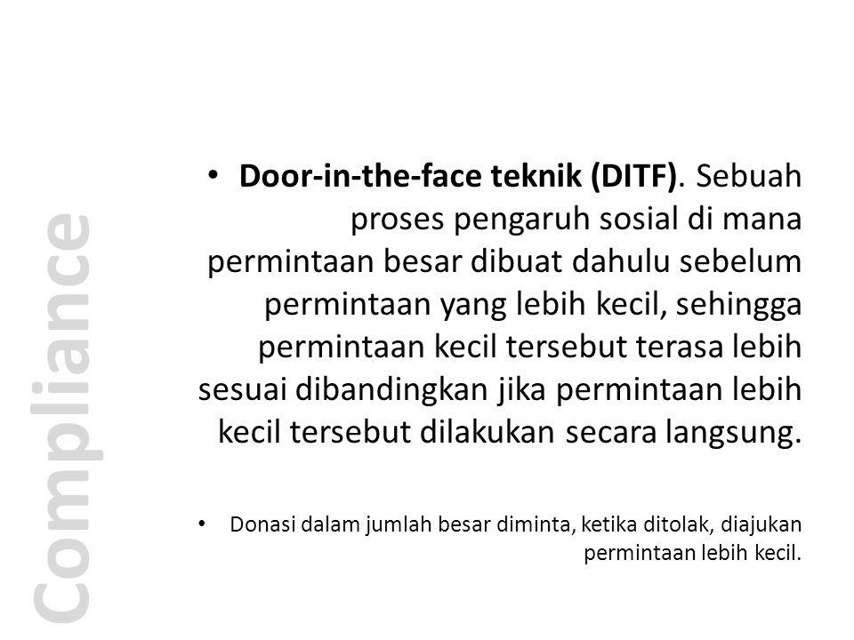 Door-in-the-face teknik (DITF)
