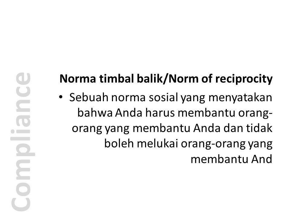 Compliance Norma timbal balik/Norm of reciprocity