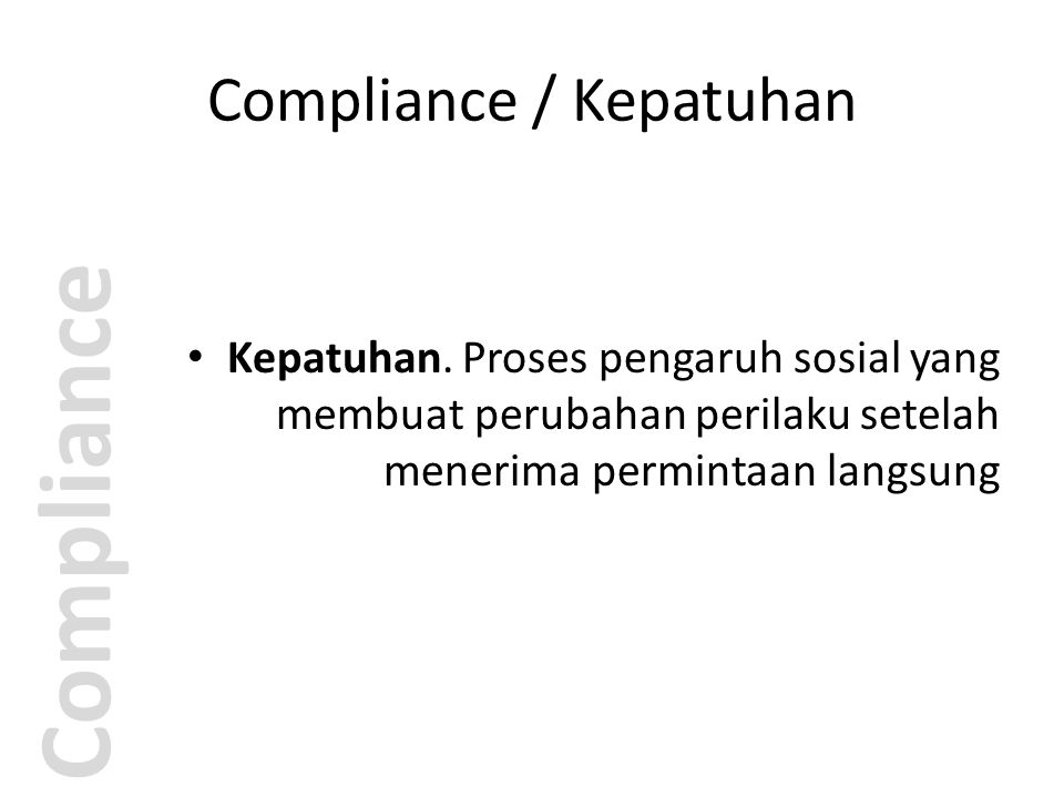 Compliance / Kepatuhan