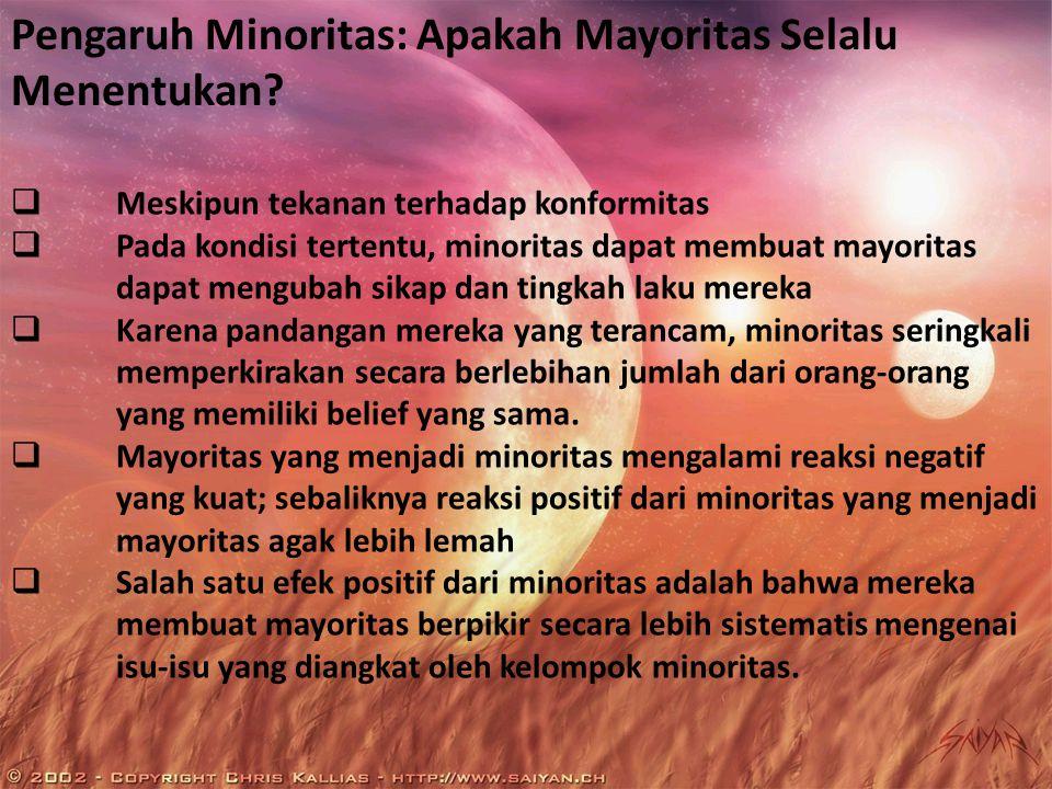Pengaruh Minoritas: Apakah Mayoritas Selalu Menentukan