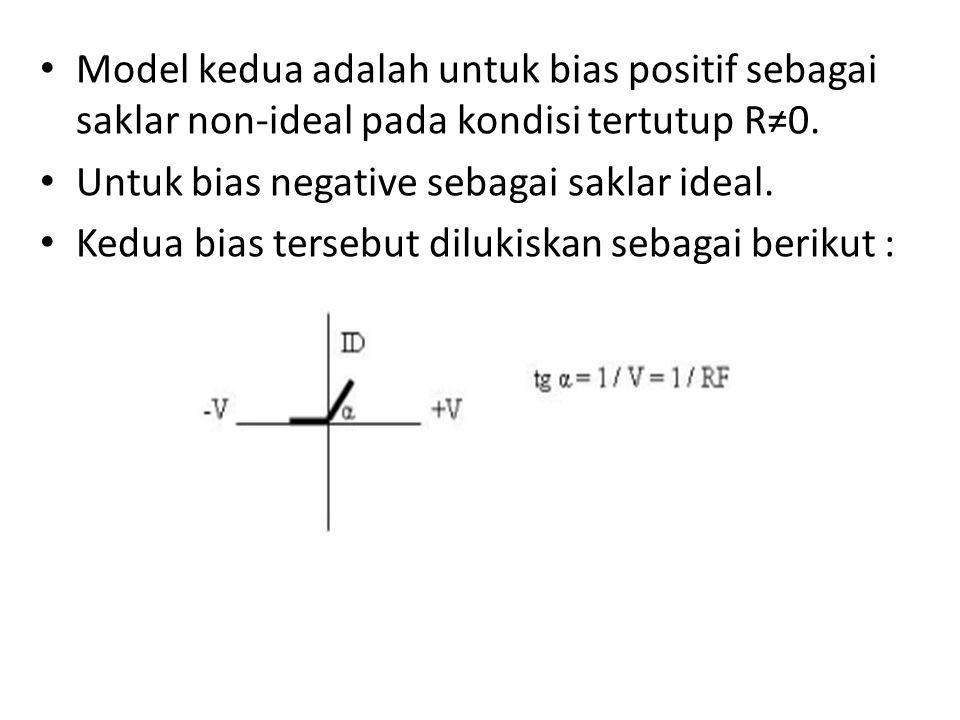 Model kedua adalah untuk bias positif sebagai saklar non-ideal pada kondisi tertutup R≠0.