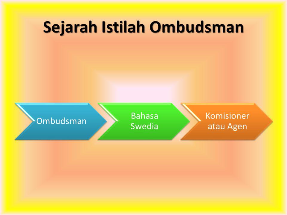Sejarah Istilah Ombudsman