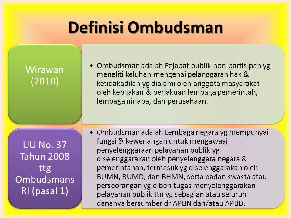 UU No. 37 Tahun 2008 ttg Ombudsmans RI (pasal 1)
