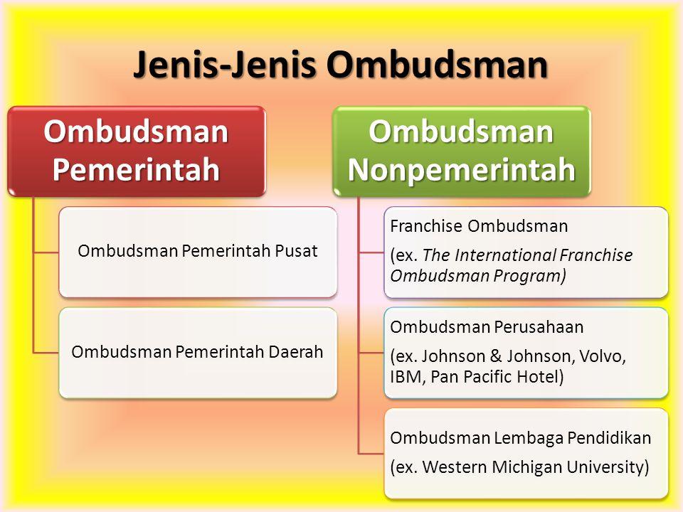 Jenis-Jenis Ombudsman