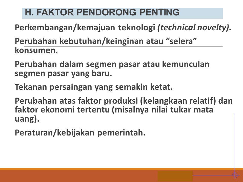 H. FAKTOR PENDORONG PENTING