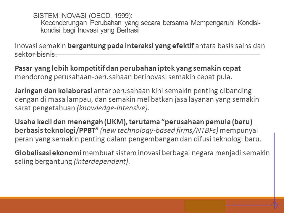 SISTEM INOVASI (OECD, 1999): Kecenderungan Perubahan yang secara bersama Mempengaruhi Kondisi-kondisi bagi Inovasi yang Berhasil