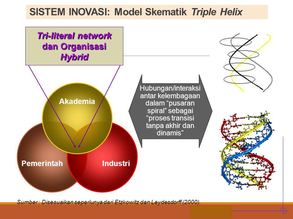 SISTEM INOVASI: Model Skematik Triple Helix