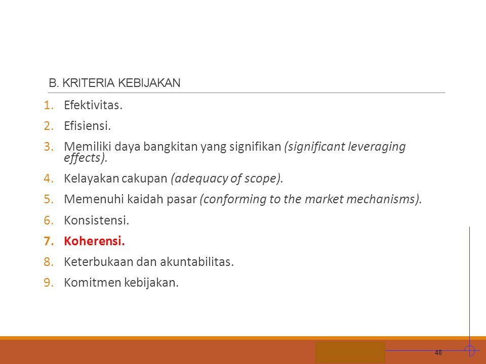 Kelayakan cakupan (adequacy of scope).