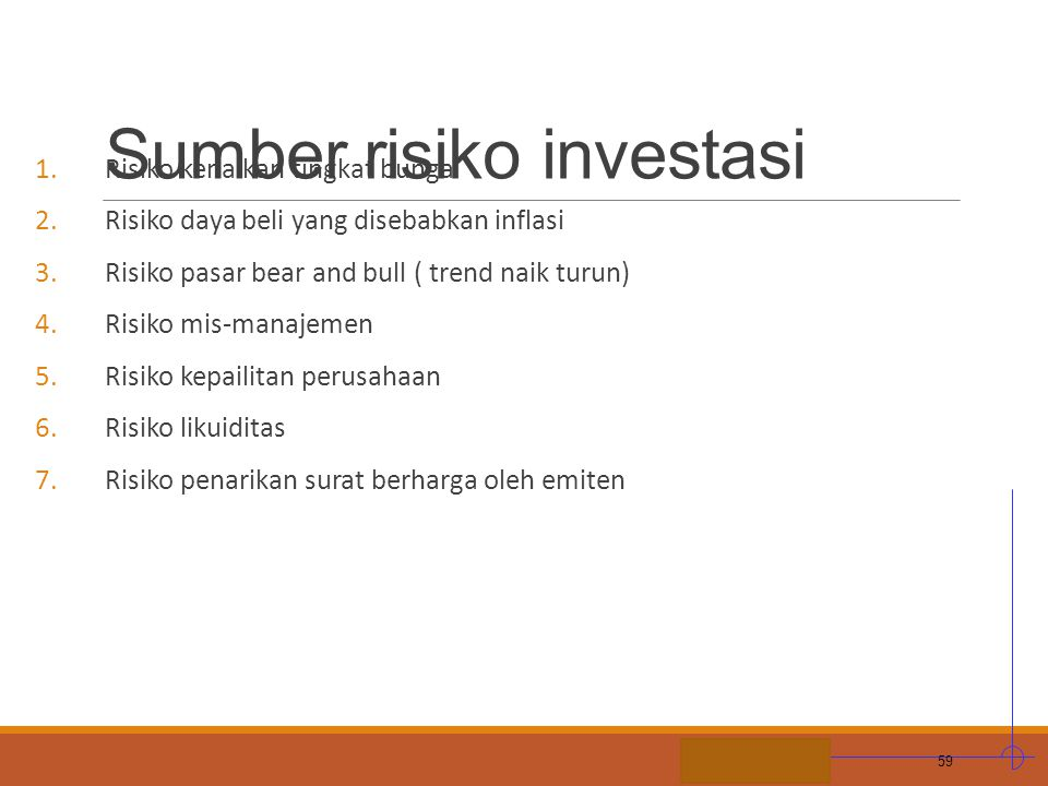 Sumber risiko investasi