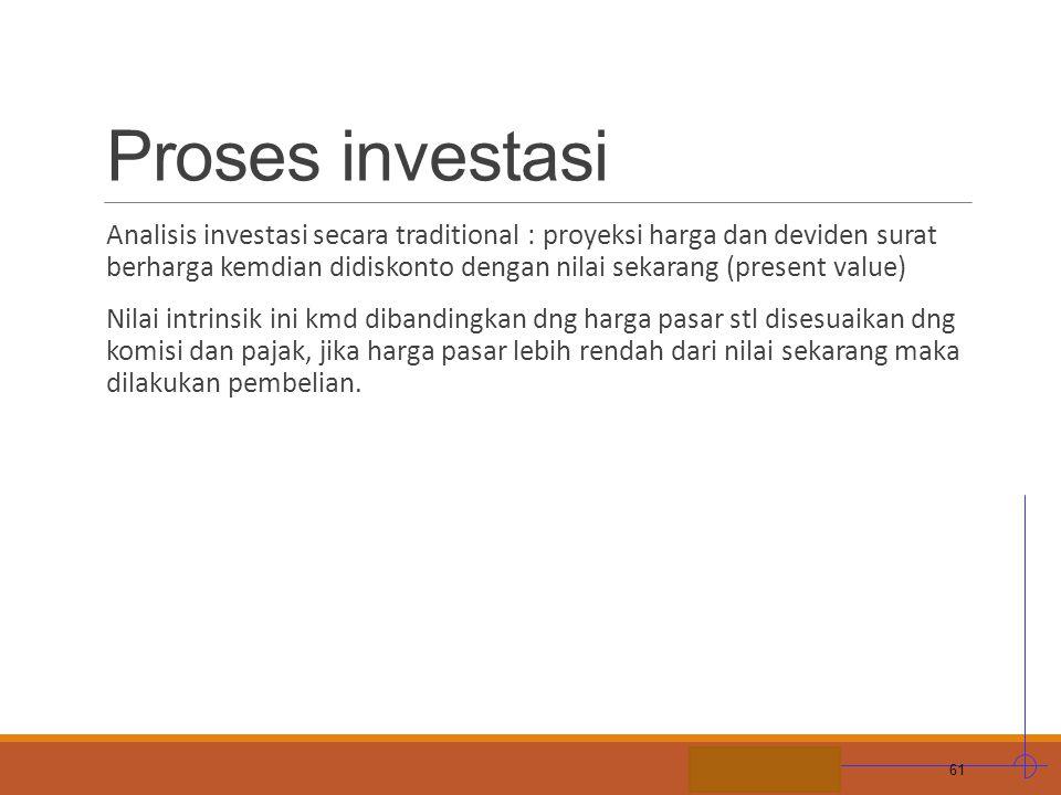 Proses investasi
