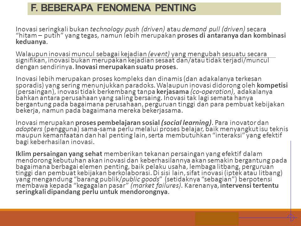 F. BEBERAPA FENOMENA PENTING