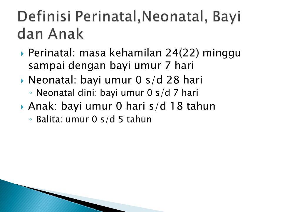Definisi Perinatal,Neonatal, Bayi dan Anak