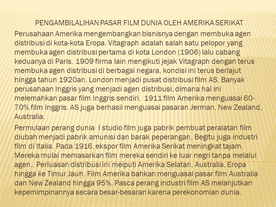 PENGAMBILALIHAN PASAR FILM DUNIA OLEH AMERIKA SERIKAT