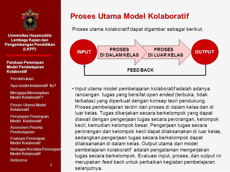 Proses Utama Model Kolaboratif