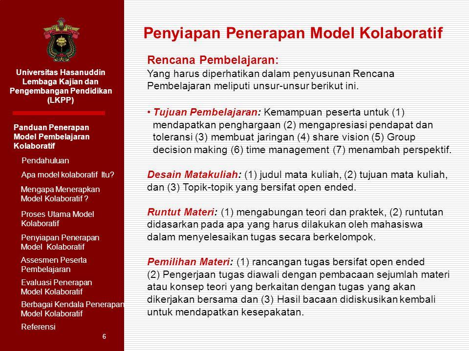 Penyiapan Penerapan Model Kolaboratif