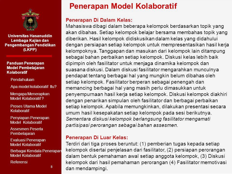 Penerapan Model Kolaboratif