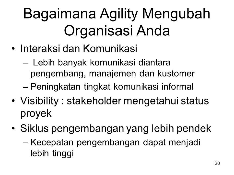Bagaimana Agility Mengubah Organisasi Anda