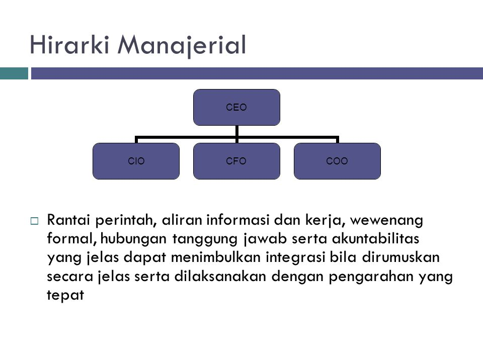 Hirarki Manajerial